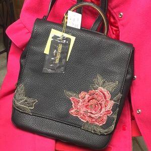 b12e9fd201 Dream Control. NWT Beaded rose black vegan bag backpack purse